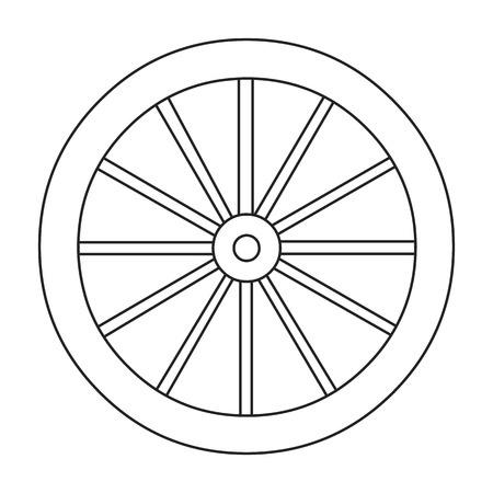 cartwheel: Cart-wheel icon line. Singe western icon from the wild west collection. Stock Photo
