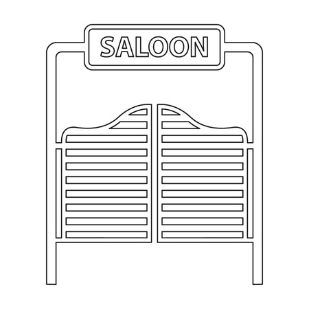saloon: Saloon icon line. Singe western icon from the wild west collection. Stock Photo