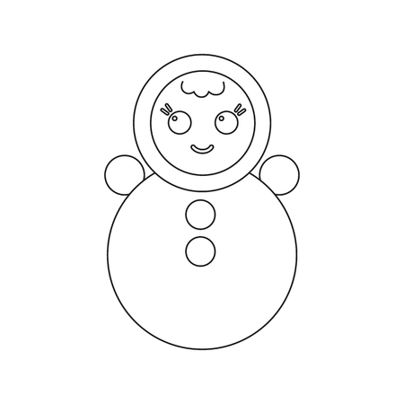 wobbly: Roly Poly line icon. Illustration for web and mobile. Stock Photo