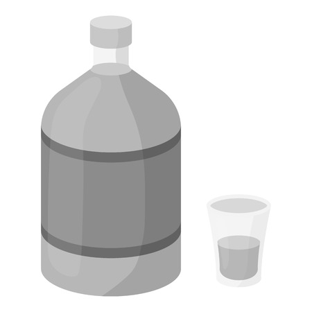 ajenjo: Absinthe icon in monochrome style isolated on white background. Alcohol symbol vector illustration. Vectores