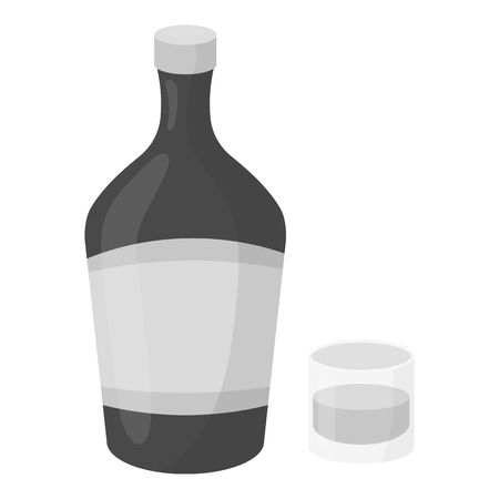 liqueur: Liqueur icon in monochrome style isolated on white background. Alcohol symbol vector illustration. Illustration
