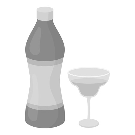 vermouth: Vermouth icon in monochrome style isolated on white background. Alcohol symbol vector illustration.