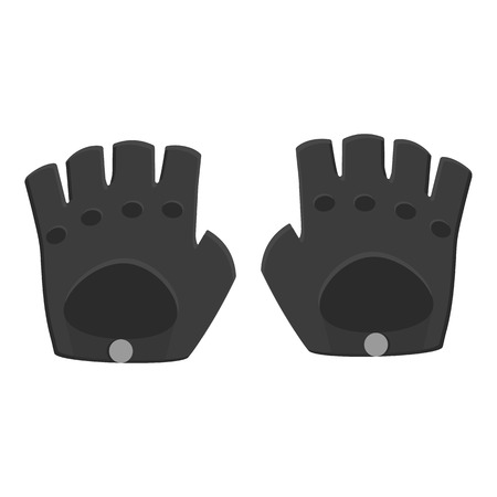leather gloves: Leather gloves icon of vector illustration for web and mobile design