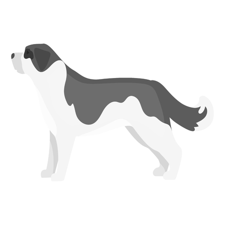 St. Bernard dog vector illustration icon in monochrome design