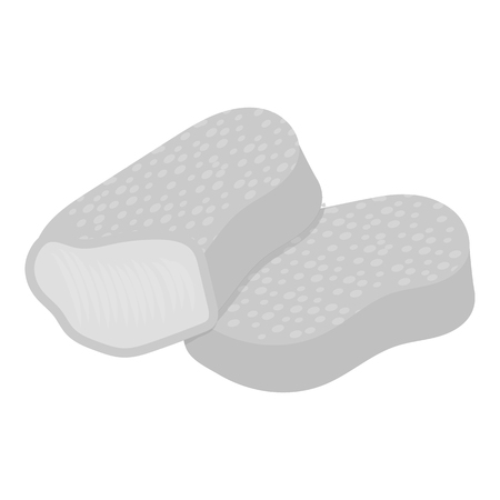nuggets: Nuggets vector illustration icon in monochrome design Illustration