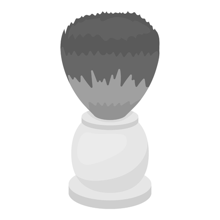 shaving brush: Shaving brush icon in monochrome style isolated on white background. Hairdressery symbol vector illustration.