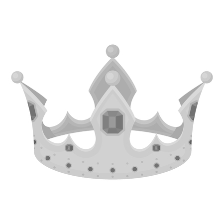 Crown icon in monochrome style isolated on white background. Hats symbol vector illustration.