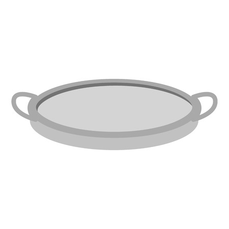 sifting: Sieve icon in monochrome style isolated on white background. Kitchen symbol vector illustration.