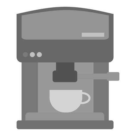 contemporary taste: Coffeemaker icon in monochrome style isolated on white background. Kitchen symbol vector illustration.