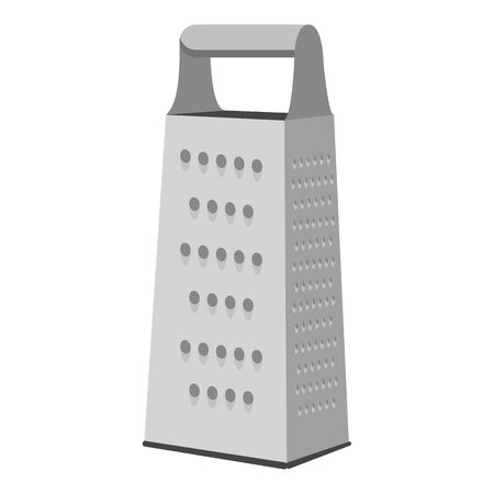 Grater icon in monochrome style isolated on white background. Kitchen symbol vector illustration. Vetores