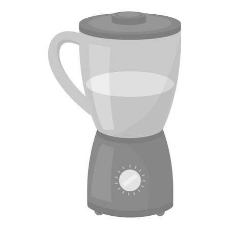 household appliance: Blender icon in monochrome style isolated on white background. Household appliance symbol vector illustration.