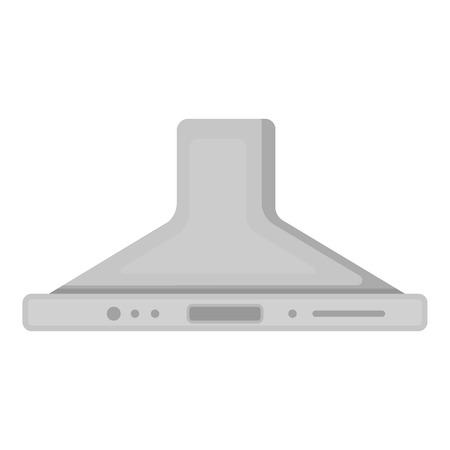 household appliance: Exhaust hood icon in monochrome style isolated on white background. Household appliance symbol vector illustration.