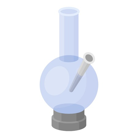 bong: Bong icon in cartoon style isolated on white background. Drugs symbol vector illustration.