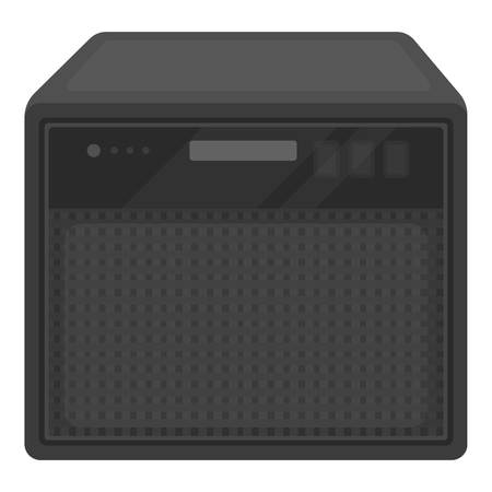 amp: Guitar amplifier icon in cartoon style isolated on white background. Musical instruments symbol vector illustration
