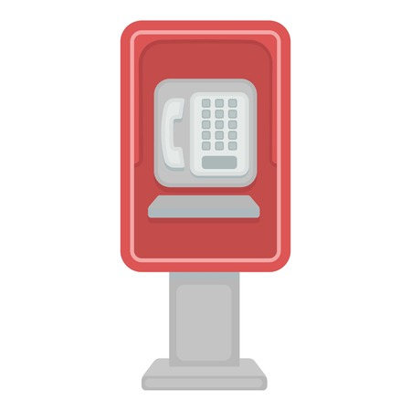payphone: Payphone icon in cartoon style isolated on white background. Park symbol vector illustration.