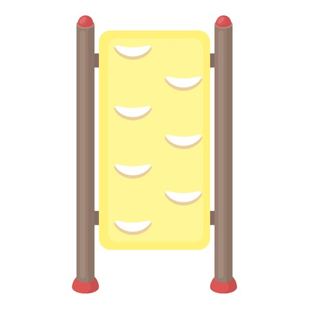 wall bars: Gymnastics wall bars icon in cartoon style isolated on white background. Park symbol vector illustration.