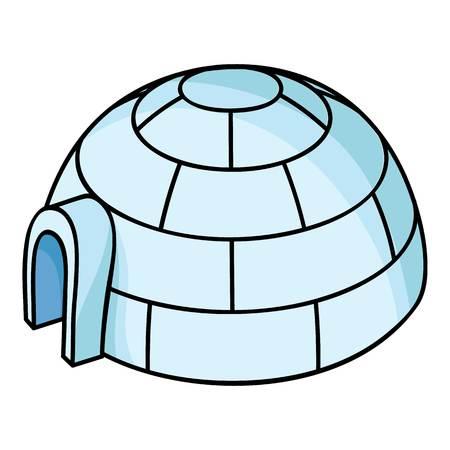 Icono De Iglú Ilustración De Dibujos Animados De Vectores