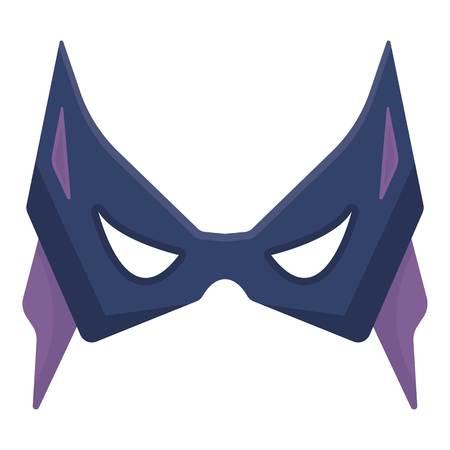 Eye mask icon in cartoon style isolated on white background. Superheros mask symbol vector illustration.