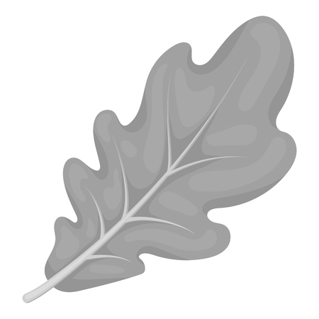thanksgiving day symbol: Oak leaf icon in monochrome style isolated on white background. Canadian Thanksgiving Day symbol vector illustration.
