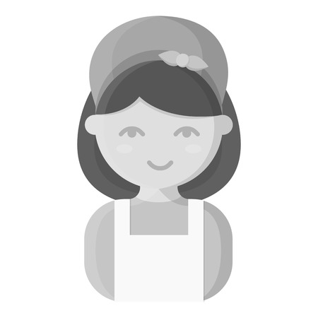 homemaker: Housewife monochrome icon. Illustration for web and mobile. Illustration