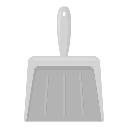dustpan: Dustpan monochrome icon. Illustration for web and mobile. Illustration
