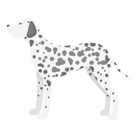 dalmatian: Dalmatian vector illustration icon in monochrome design Illustration