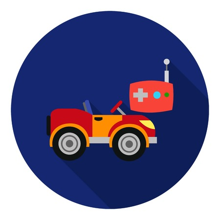 rc: RC car icon in flat style isolated on white background. Play garden symbol vector illustration. Illustration