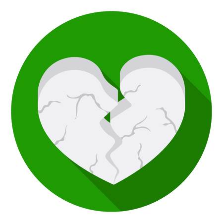 Heart icon in flat style isolated on white background. Romantic symbol vector illustration. Illustration