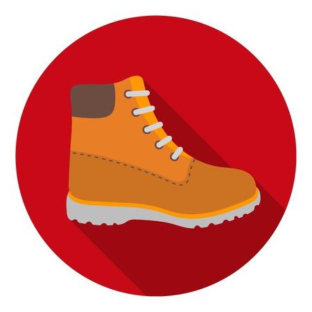 Icono de botas de senderismo en estilo plano aislado sobre fondo blanco. Zapatos de símbolo ilustración vectorial.