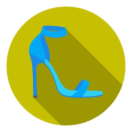 ankle strap: Ankle straps icon in flat style isolated on white background. Shoes symbol vector illustration. Illustration