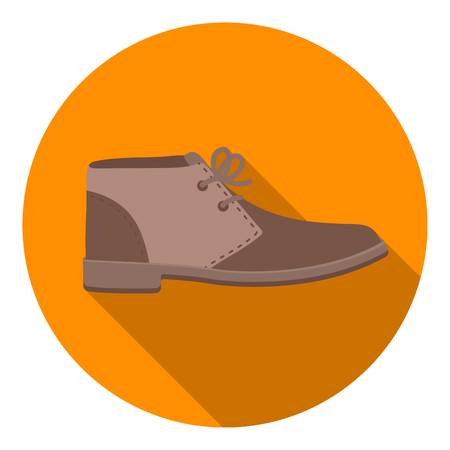 Oxfords icon in flat style isolated on white background. Shoes symbol vector illustration. Illustration