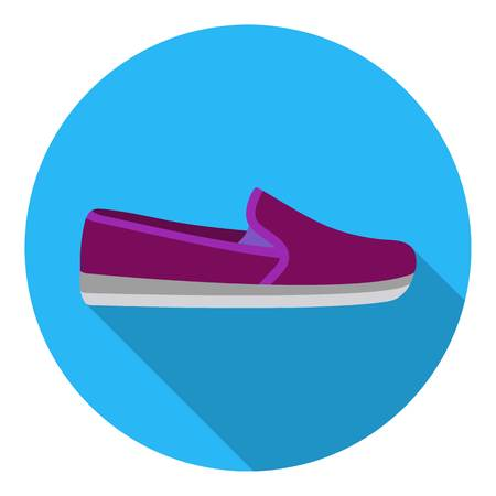 Moccasin icon in flat style isolated on white background. Shoes symbol vector illustration. Illustration
