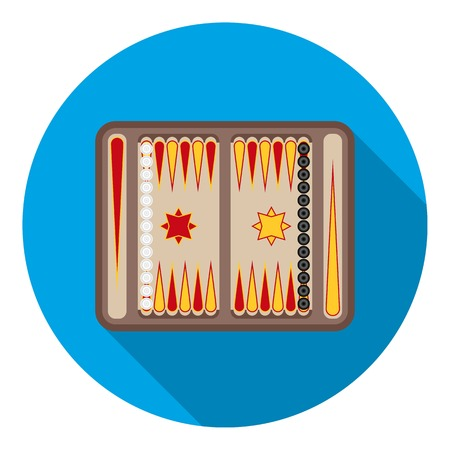 backgammon: Backgammon icon in flat style isolated on white background. Board games symbol vector illustration.