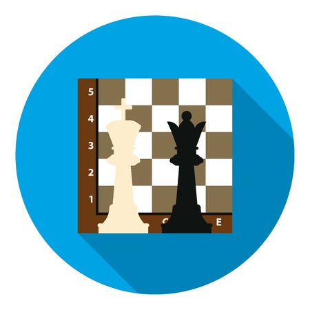 Chess icon in flat style isolated on white background. Board games symbol vector illustration.