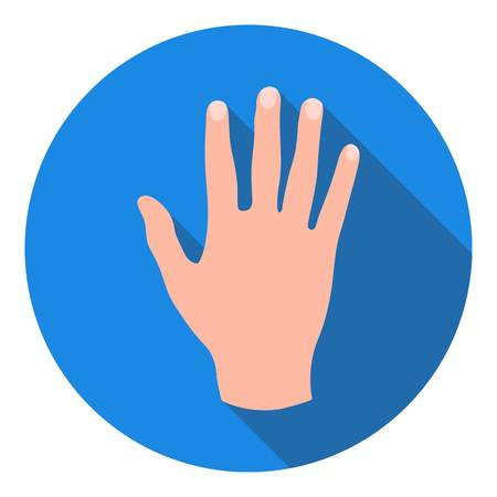 hi five: High five icon in flat style isolated on white background. Hand gestures symbol vector illustration.