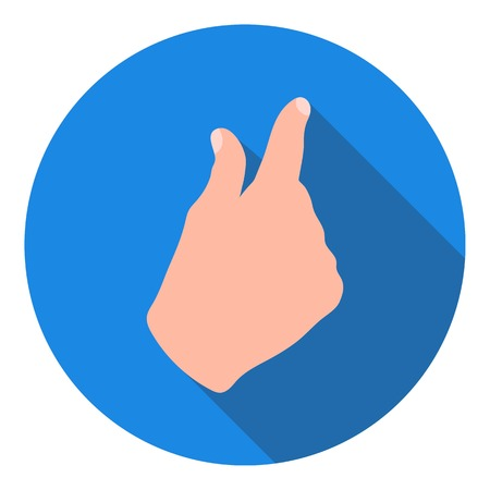 Zoom in gesture icon in flat style isolated on white background. Hand gestures symbol vector illustration. Illustration