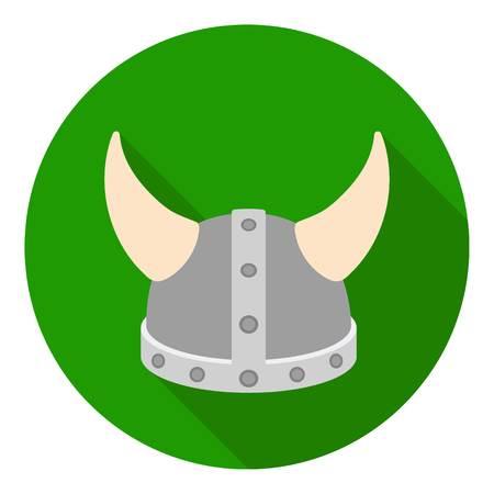 Viking helmet icon in flat style isolated on white background. Hats symbol vector illustration. Illustration