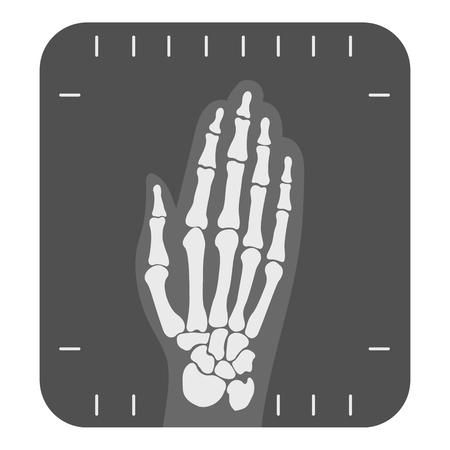 med: X-ray hand icon monochrome. Single medicine icon from the big medical, healthcare monochrome. Illustration
