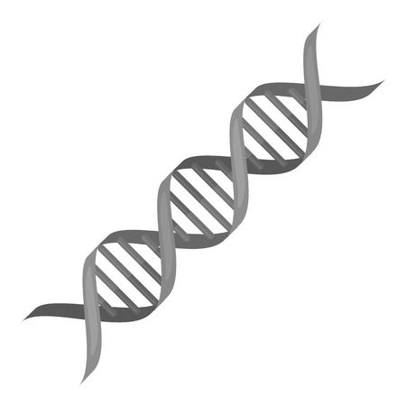 med: DNA code icon monochrome. Single medicine icon from the big medical, healthcare monochrome. Illustration
