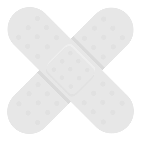 med: Adhesive plaster icon monochrome. Single medicine icon from the big medical, healthcare monochrome.