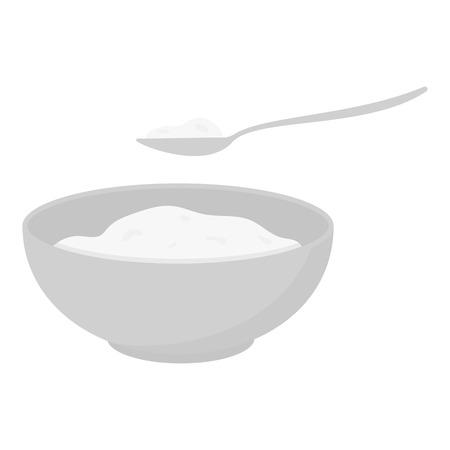 cottage cheese: Cottage cheese icon monochrome. Single bio, eco, organic product icon from the big milk monochrome. Illustration