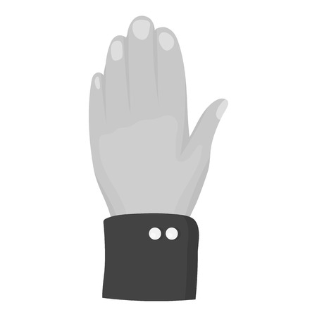 hi five: High five icon in monochrome style isolated on white background. Patriot day symbol vector illustration.