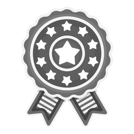 elect: Vote emblem icon in monochrome style isolated on white background. Patriot day symbol vector illustration.