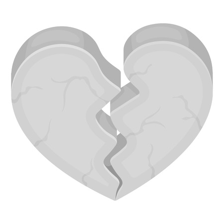 miserable: Heart icon in monochrome style isolated on white background. Romantic symbol vector illustration.