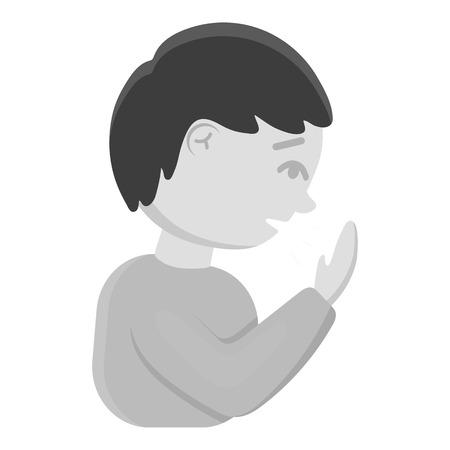 cough medicine: Cough icon monochrome. Single sick icon from the big ill, disease monochrome.