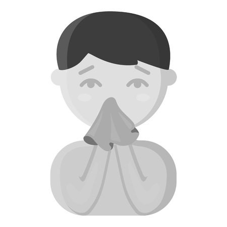 snot: Running nose icon monochrome. Single sick icon from the big ill, disease monochrome.