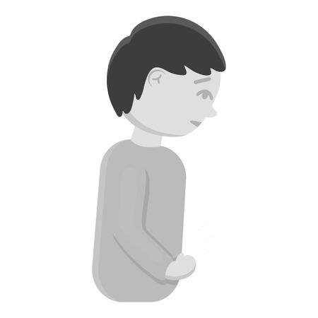 appendicitis: Abdominal pain icon monochrome. Single sick icon from the big ill, disease monochrome.