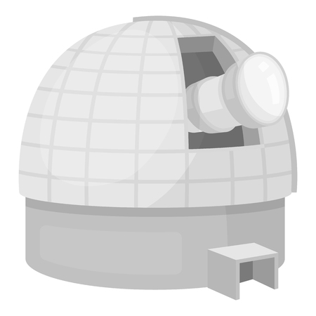 picto: Observatory icon in monochrome style isolated on white background. Space symbol vector illustration.