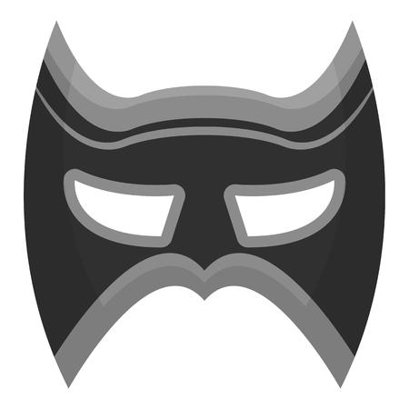 Eye mask icon in monochrome style isolated on white background. Superheros mask symbol vector illustration. Illustration