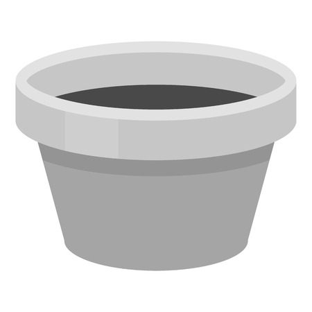 paint container: Cap for tattoo ink icon monochrome. Single tattoo icon from the big studio monochrome.
